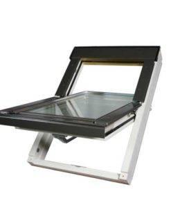 Okno dachowe OptiLight wykonane z wysokiej jakości drewna sosnowego pokrytego białym lakierem akrylowym