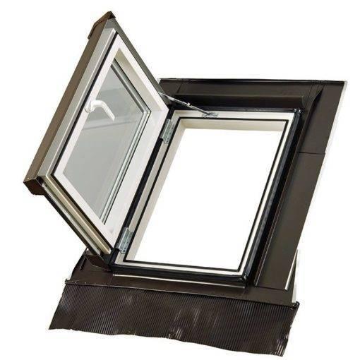 Plastikowe okno wyłazowe Skylight LOFT PREMIUM + kołnierz